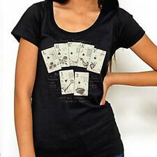 WOMENS LUCKY 13 LUCKY FORTUNE CARD GAME PUNK GOTH SCOOP NECK SHIRT S M L XL XXL