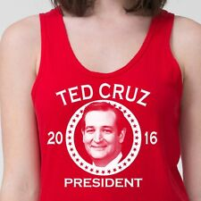 Ted Cruz For President 2016 T-shirt Funny Democrat Election Adult Tank Top