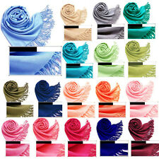 Fashion 20 Colors Cashmere Silk Solid Long Pashmina Shawl Wrap Scarf Range