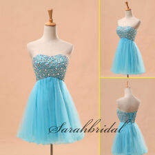 US Short A-line Beaded Ladies Prom Party Mini Dress Cocktail Clubwear Ball Gowns