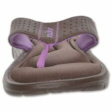 """New! Women's Nike- """"Comfort"""" Thong Sandals in Barqoue Brown/Violet Pop (A-1)"""