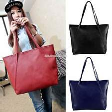 Women PU Leather Large Shoulder Bags Tote Purse Lady Fashion Messenger New