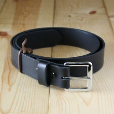 "1-1/2"" Solid Bullhide Belt_Full Grain Leather Men's Belt_Handmade in USA"