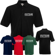 CUSTOM PERSONALISED DESIGN YOUR OWN POLO SHIRT WORKWEAR MENS WOMEN STAG HEN