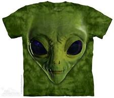 THE MOUNTAIN GREEN ALIEN FACE ET SOLAR SYSTEM GALAXY SCI FI T TEE SHIRT S-5XL