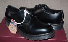 Dr Martens Made in England MIE 1461 Black Rub-Off 3-Eye Shoes, Ret. $224