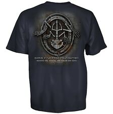 CHRIS KYLE FOUNDATION METAL OVAL FROG AMERICAN SNIPER MILITARY MENS SHIRT S-3XL