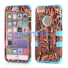 Camo Grass Hybrid Rugged Purple Rubber Hard Case Cover for iPhone 5 5G 5S 6 6G
