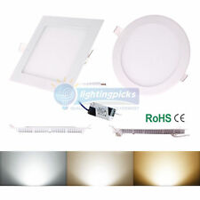 LED Recessed Ceiling Dimmable Down Panel Light Lamp 6W/9W/12W/15W/18W/21W E3A