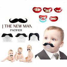 Baby Funny Dummy Prank Pacifier Novelty Teeth Children Lip Soother Nipple Cute A