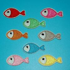 Lots 3 Fish Sea Animal Iron on Sew Patch Cute Applique Badge Embroidered Cute