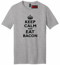 Keep Calm And Eat Bacon Tee Funny Mens V-Neck T Shirt Epic Food Party Gag Gift