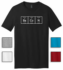 Bacon Periodic Table Science Elements Mens V-Neck T Shirt Gift Meal Humor Tee