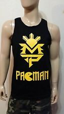 Manny Pacquiao BLACK Tank Top Training  MP PACMAN  Boxin MAY 2