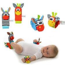 1 Pair Baby Infant Soft Rattles Handbells Foot Finders Socks Developmental Toy