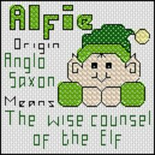 Cross Stitch Kit - Name Origin and the Meaning - Letter A Male
