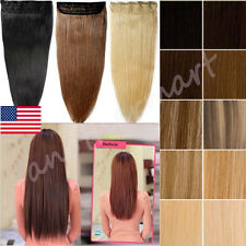 Cheap Price One Piece Clip In Remy Human Hair Extensions 3/4 Full Head USA B177