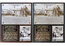 Lou Gehrig Appreciation Day New York Yankees Photo Card Plaque Luckiest Man