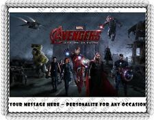 AVENGERS - AGE OF ULTRON - TEAM EDIBLE IMAGE CAKE TOPPER DECORATION! MARVEL!