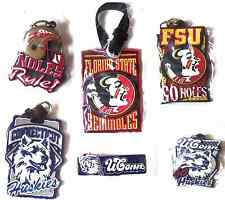 NCAA College Team Luggage Tag Keychain Bookmark UConn Huskies Florida Seminoles