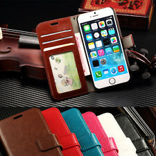 Magnetic Book Stand Card Slot Flip Wallet For Various Phones Case Cover Leather