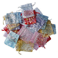 25/50/100pcs Organza Jewelry Packing Pouch Wedding Favor Bags Gifts 9x7CM