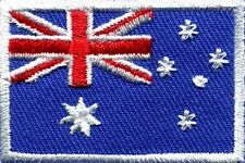 Flag Of Australia Embroidered Badge Australian Flag Iron On Patches Sew Trim New