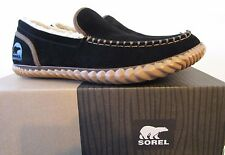 Mens Sorel Leather Dude Mocassin Shoes Slippers Black 8 10 11 NM2025 $85