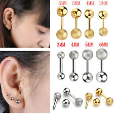 Pair 16g Steel Punk Barbell Ear Cartilage Helix Tragus Stud Earring Bar Piercing