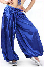 Satin Belly Dance costume trousers bloomers Gypsy style Harem Halloween pants