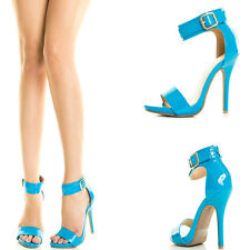 Turquoise Open Toe Ankle Strap High Stiletto Heel Platform Womens Pump Sandal US