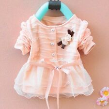 1pc Girl Kids Newborn Toddler Baby Flower Top Cardigan Coat Clothes Outfit 0-36M