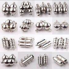 10PCS Silver Plated Tube Barrel Strong Magnetic Clasps Findings DIY 16Styles