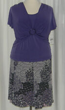 NWT Lavender Plus Skirt and Top by Connected