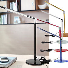 Simple 24 LEDs Desk Table Lamp Toughened Glass Base for Home Office #Cu3