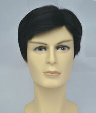 Real human hair Man's hair wig men full wigs toupee human hair toppers Father