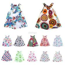 12 Styles Baby Kids Girls Dress Toddler Princess Party Tutu Summer Floral Dress