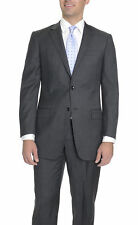 Modern Fit Charcoal Gray Pindot Super 150's Two Button Wool Suit