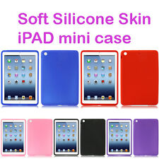 iPad Mini Silicone Gel skin case soft flexible choose colour