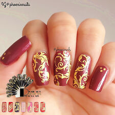 3D Metallic Nail Art Stickers Chic Flower Lace Butterfly Stickers Nail Decals