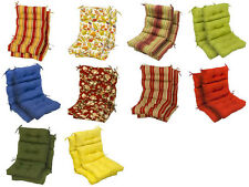Outdoor Cushion Set High-back Plush Chair Furniture Backyard Patio Multi Colors