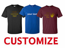 Create Personalized Custom Text (Your Own Text) T-Shirt Customized Tee Unisex