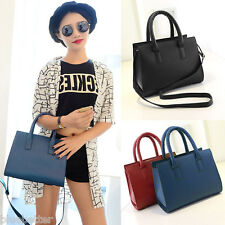 Vintage Women Handbag Faux Leather Shoulder Crossbody Bag Purse Tote Briefcase