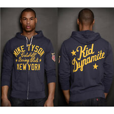 Roots of Fight Tyson Kid Dynamite FZ Terry Zip-Up Hoodie - Navy Blue