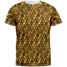 Battle Damage Bronze Scale Armor Costume All Over Adult T-Shirt