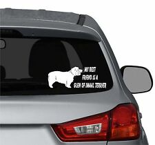 My best friend is a Glen of Imaal Terrier dog vinyl car windows decal sticker
