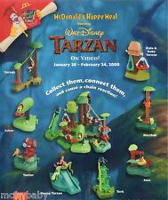 2000 McDonalds Tarzan -Connectibles - Drop Down Menu (Select)