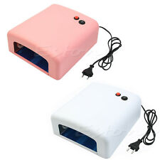Hot Pro. 36W Nail Art UV Lamp Light Dryer 4 X 9W Salon Gel Curing Tube EU 220V