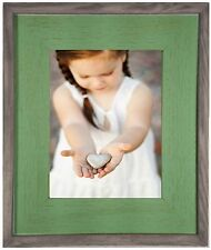 Salvaged Reclaimed Wood Picture Frame--Mint Green
