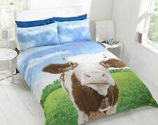 Daisy Cow Photoreal Photo Print Single Double King Quilt Duvet Doona Cover Set